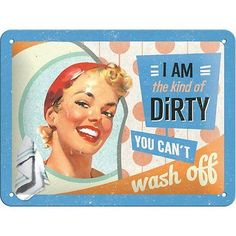 """Nostalgic Art 26108 Say it 50 """"s The Kind of Dirty."""", Tin Plate Sign 15 x 20 CM in Home, Furniture & DIY, Home Decor, Plaques & Signs 
