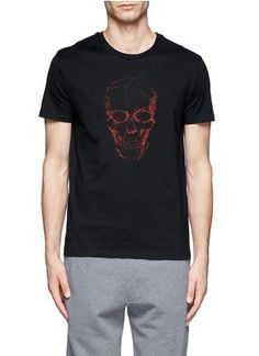 ALEXANDER MCQUEEN - Skull print cotton T-shirt | Black Short Sleeves T-Shirts | Menswear | Lane Crawford - Shop Designer Brands Online