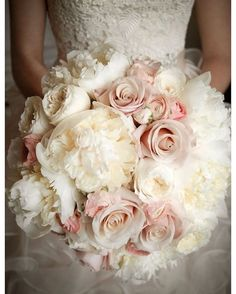 Mix peonies with roses for a lush bouquet!