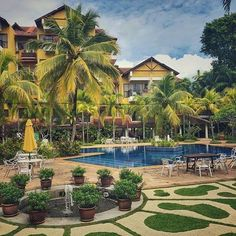 Tropical living at the Tiara Hotel Photo by Labuan, Borneo, Tropical, Mansions, House Styles, Home Decor, Decoration Home, Room Decor, Villas