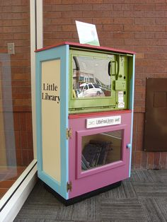 J. Wensel. Liberty, MO. This Little Free Library is located inside the Liberty City Hall in downtown Liberty, Missouri. The City of Liberty, Historic Downtown Liberty, Inc., and the Mid-Continent Public Library have contributed to this Little Library and encourage others to install their own around town. #makerguild #littlefreelibrary