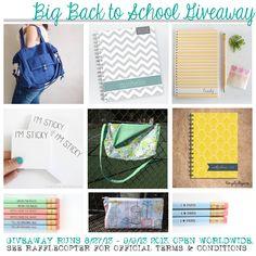 Big Back to School/Organizational Giveaway!