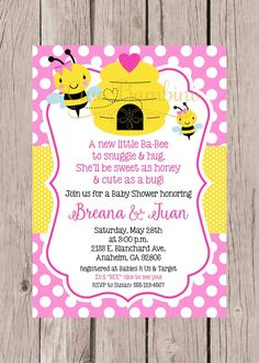 Printable pink bumble bee baby shower invitation pink yellow bee printable mommy to bee baby shower invitation print your own filmwisefo