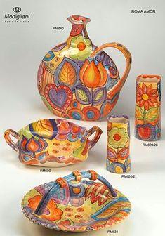 Modigliani Handmade Italian Tableware - 'Roma Amor' Collection