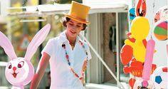 Juego de roles  Mono de algodón elástico Antik Batik, collares de abalorios multicolores Domingo Ayala.