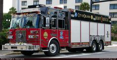Sutphen  Rescue Orlando Fire Department  Emergency Apparatus Fire Truck Photo