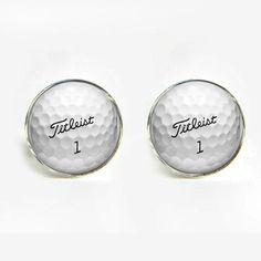 1 pair Free Shipping wedding cufflinks for mens Golf Ball Cufflinks Round Glass Hand made CuffLinks men cuff links