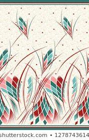 Seamless abstract textile border design Pattern Art, Print Patterns, Adobe Illustrator, Rose Tattoos For Women, Elephant Tapestry, Portfolio, Floral Border, Border Design, Photoshop