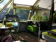 Outwell Vermont LP. Love the matching colours etc. #camping #tents #kitchen #outwell #mykindofcamping