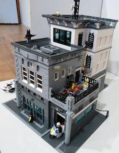 Lego Design, Modular Design, Lego Police Station, Lego Custom Minifigures, Amazing Lego Creations, Lego Modular, Lego Construction, Lego Projects, Custom Lego
