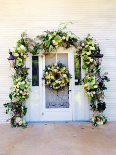 A beautiful Fall Wedding door by In Bloom Floral Design in Huntsville, AL at Creekside Plantation in Mooresville, Al
