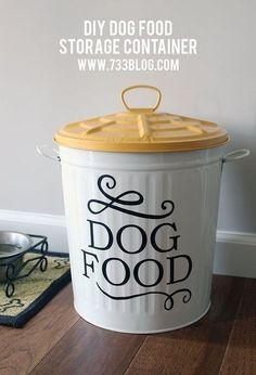 chic dog food storage, repurposing upcycling, storage ideas