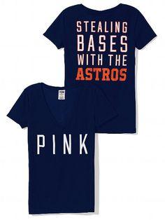 PINK Houston Astros V-Neck Tee #VictoriasSecret http://www.victoriassecret.com/sale/pink/houston-astros-v-neck-tee-pink?ProductID=102095=OLS?cm_mmc=pinterest-_-product-_-x-_-x