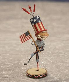 Love Uncle Sam's ruffly shirt -- would be fun to do something like him in paper mache Look at this #zulilyfind! Bandstand Sam Figurine #zulilyfinds