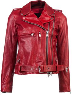 Sick Red Leather a Jacket