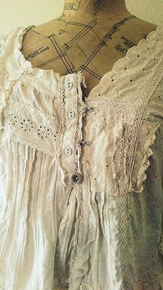 Delicate cotton by NaturallyBohemian on Etsy
