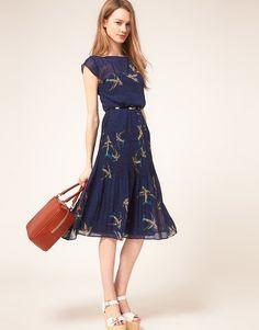 Warehouse Skylark Midi Dress, ASOS $116