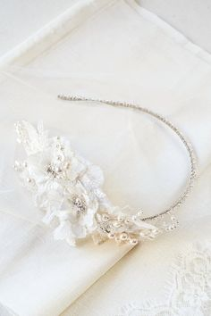 PALOMA beaded bridal headpiece in ivory