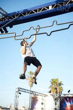 American Ninja Warrior Ninja Warrior Gym, America Ninja Warrior, Ninja Warrior Course, Glute Ham Raise Machine, American Ninja Warrior Obstacles, Gym Setup, Ninja Training, Outdoor Gym, Crossfit Gym