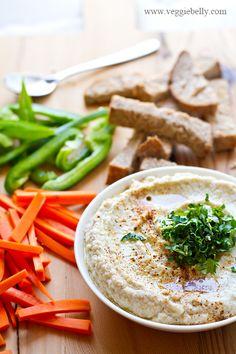 Cauliflower Hummus with Tahini Recipe/ #Vegan