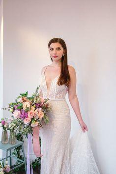 a78bfb5ddd 2019 canadian wedding dresses – isabelle s bridal – canada wedding dress  designers - slim fit plunging neckline wedding dress