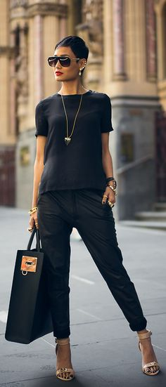 Black on black. Simple and classy