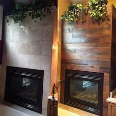 Before and after photos show how much impact can come with such little effort! Thanks for sharing your finished project, Kerry! *Note: The above material, Reclaimed Sierra Gold, was sealed to protect the face in a bathroom setting and as a result, has the