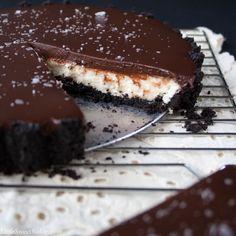 Salted chocolate mascarpone tart
