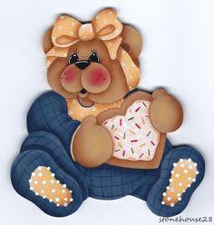 HP TEDDY BEAR with Cookie FRIDGE MAGNET