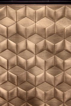 Love the carved brass #geometric by De Castelli, at Salone del Mobile 2016