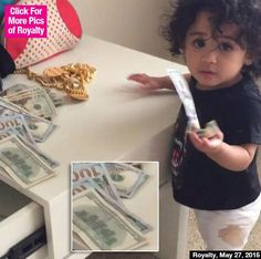 Royalty Plays With $100 Bills While Nia Guzman Begs Chris Brown For Money