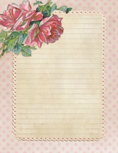 A Garden of Roses -- stationery (lined and unlined), postcard, journal cards, and ephemera Vintage Diy, Vintage Cards, Vintage Paper, Journal Paper, Journal Cards, Envelopes, Printable Paper, Recipe Printable, Free Printable Stationery