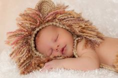 Can you hear the ROAR! Hand-crocheted hat and diaper cover for newborn to 3 months of age. Made of acrylic super-soft yarns. Crochet Lion, Crochet For Kids, Hand Crochet, Newborn Halloween Costumes, Boy Costumes, First Baby Pictures, Lion Hat, Knitted Hats, Crochet Hats