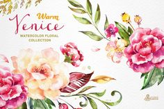 Warm Venice. Floral Collection by OctopusArtis on @creativemarket