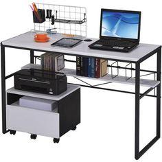 Ellis Student Computer Desk, Black and White