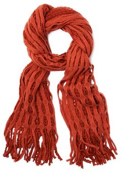 Lattice Make a Deal Scarf in Orange, #ModCloth