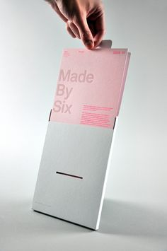 Made by Six 08/09 is a limited edition boxed promotional piece, collating our credentials, recent client work and selected studio projects. The boxes are hand-editioned and distributed to existing and potential clients and collaborators.