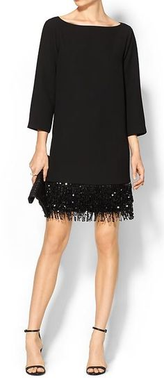 kate spade sequin fringe mini dress - on sale for $95 with code: CHIC60 http://rstyle.me/n/u87s9nyg6