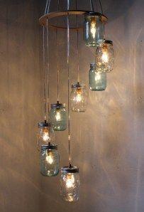 20 bright ideas diy wine beer bottle chandeliers pinterest mason jar chandelier mozeypictures Choice Image