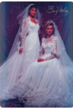 Bride In A S Vintage Wedding Gown From A Magazine S And