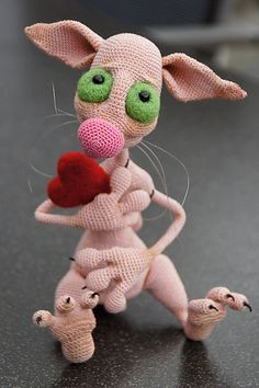 Ravelry: Project Gallery for 006 Hairless Cat Fillimon Amigurumi Toy Ravelry pattern by LittleOwlsHut