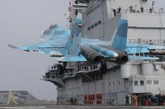 ・・・ Russian former carrier-based aircraft Developed on the basis of interceptor by Sukhoi… Luftwaffe, Fighter Aircraft, Fighter Jets, Su27 Flanker, Sukhoi Su 35, Russian Military Aircraft, Flying Vehicles, Russian Air Force, Military Jets
