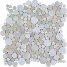 Glass Penny Round Tile - Foter