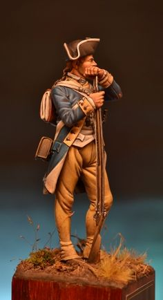 Hello to all guys are Giorgio from Rome. This is one of my latest pieces completely painted in acrylic of the company Elite. American Revolutionary War, American War, Independencia Usa, Toy Soldiers, Military History, Revolutionaries, Chess, 18th Century, Modeling