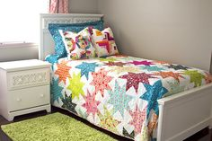 Star Quilt | Stitches & Scissors -- love the larger scale sparkle punch