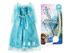Princess Elsa Dress with accessories US $40.00