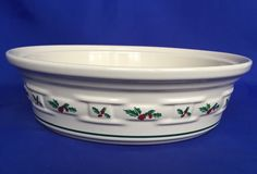 Longaberger Traditional Holly 2 Quart Covered Casserole Serving Dish No Lid QT #Longaberger #Covered