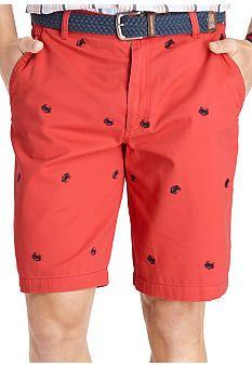 Izod Crab Schiffli Flat Front Short