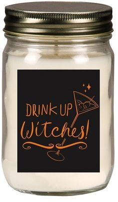 PRIMITIVES BY KATHY 'Drink Up, Witches!' Mason Jar Candle