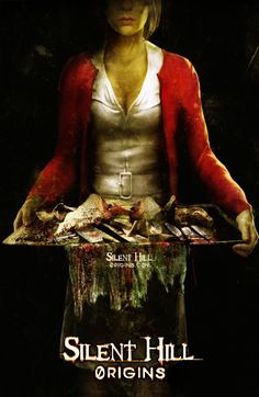 Poster - Silent Hill Origins The first horror game I ever played. Silent Hill Video Game, Silent Hill Series, Silent Hill Art, Silent Hill Nurse, Horror Movie Posters, Horror Movies, Scary Movies, Silent Hill Origins, Evil Dead